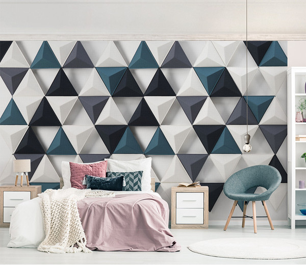 . Phone 3d Wallpaper 3d Stylish Nordic Modern Minimalist Triangle Living Room  Bedroom Background Wall Decoration Mural Wallpaper Contemporary Wallpaper