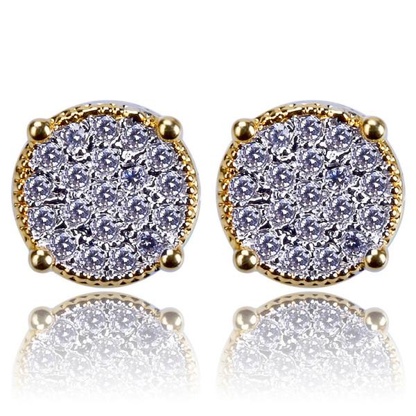 new arrivel Hiphop Stud earrings for women men 2018 Luxury boho white Zircon Dangle earrings gold silver plated Vintage geometric Jewelry