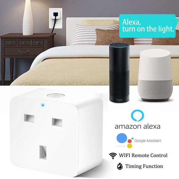 Homekit UK Smart Plug WiFi Outlet Smart Home Socket Switch Compatible With  Amazon Alexa Google Home Assistant IFTTT Socket House Automation Light