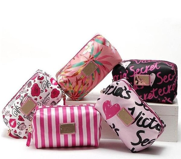 Sacs de maquillage de haute qualité de marque de femmes sac cosmétique sac à main maquillage organisateur printemps impression sacs pour femmes