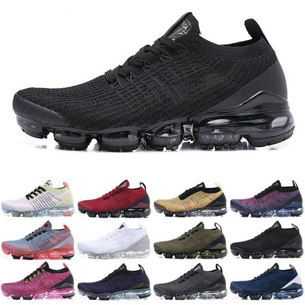 Zapatilla Nike Air Vapormax Flyknit 3 Negra y Gris