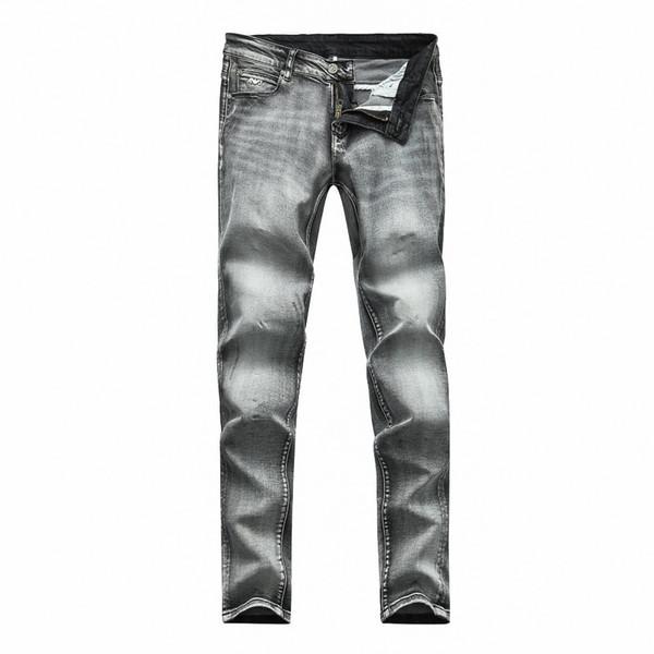 e42775af993 Pantalones de mezclilla grises de los hombres Pantalones de ocio de Scratch Pantalones  de moda Nuevos