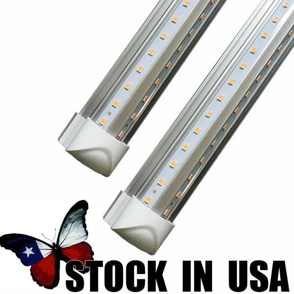 LED T8 tubo em forma de v 8ft 72 W AC110-277V tubo de lâmpada LED tubo de luz LED SMD2835 chip T8 integrado em forma de v lâmpada tubo