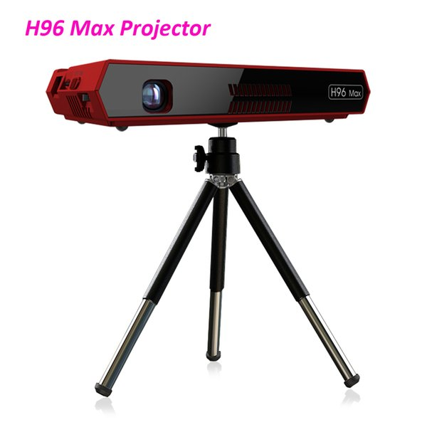 H96 MAX Portable Projector DLP Full HD 4K WIFI 5G Android 6.0 S912 2+16G Touch Button Voice Remote 200 inch Home Theater