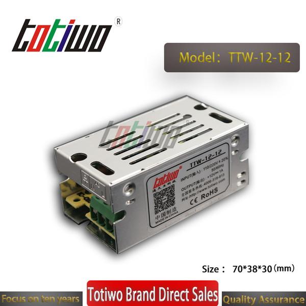 AC a DC Conmutación industrial SMPS 12V 1A 12W Watt Fuente de alimentación LED Monitorización de seguridad equipo de maquinaria médica transformador de potencia