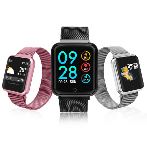 Smart watch P68 band IP68 waterproof smartwatch dynamic heart rate blood pressure monitor for iPhone Android Sport Health watch