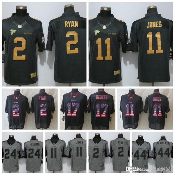 promo code 22803 6f22f 2019 Men Atlanta Falcons Black Gold Jersey #11 Julio Jones 2 Matt Ryan 24  Devonta Freeman 18 Ridley 21 Deion Sanders Flag Football Jerseys From ...