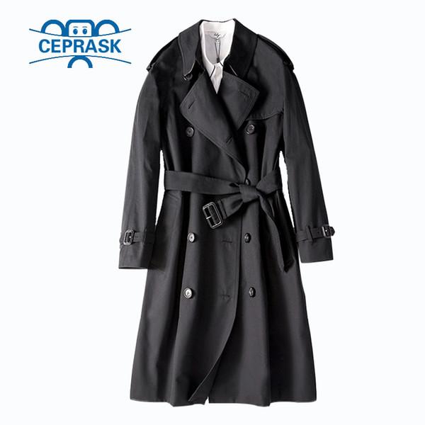 2018 Printemps Automne Casual Trench-Coat Pour Femmes Marque Plus Taille Breasted Europe Long Double Coupe-Vent Survêtement Manteaux Vente ChaudeMX190821