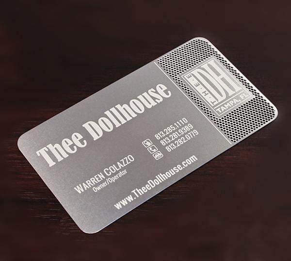 Kişilik yaratıcı baskı paslanmaz çelik aşındırma özel metal kart