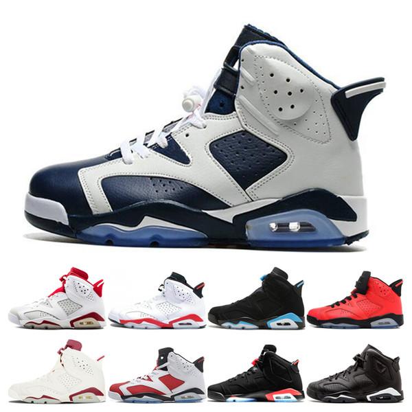 Men 6 Basketball Shoes Olympic mens 6s Oreo Black Cat Alternate Oreo Infrared UNC Carmine Sport Blue Luxury Designer Sneakers Sport Shoes