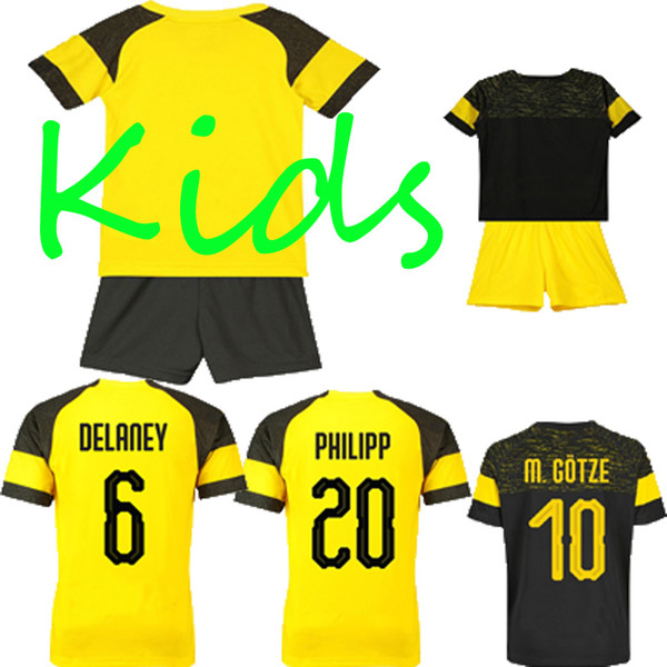 2019 Kids Sports Suits 10 M.GOTZE 11 REUS 13 GUERREIRO Football Shirts 26 PISZCZEK 21 SCHURRLE 22 PULISIC