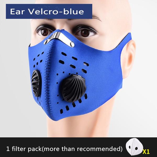 Blu con orecchio Velcro