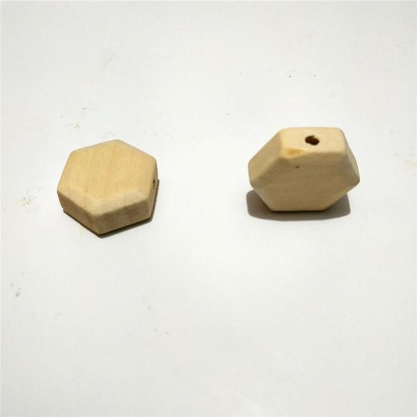 Hexagon beads 30pcs