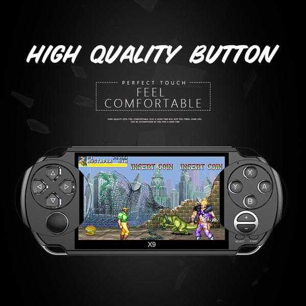 Console de jeux vidéo 5.0 pouces grand écran portable Game Player Support TV Out Put Avec MP3 / Multimédia Caméra vidéo Console de jeux vidéo