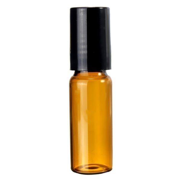 Rodillo para botellas de vidrio vacío portátil de 5 ml para perfumes de aceites esenciales