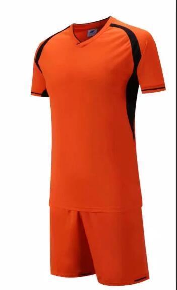Nuovo arriva Cheap calcio di alta qualità calcio Calcio uniforme kit No uniformi di marca kit Nome personalizzato LOGO personalizzato Arancione