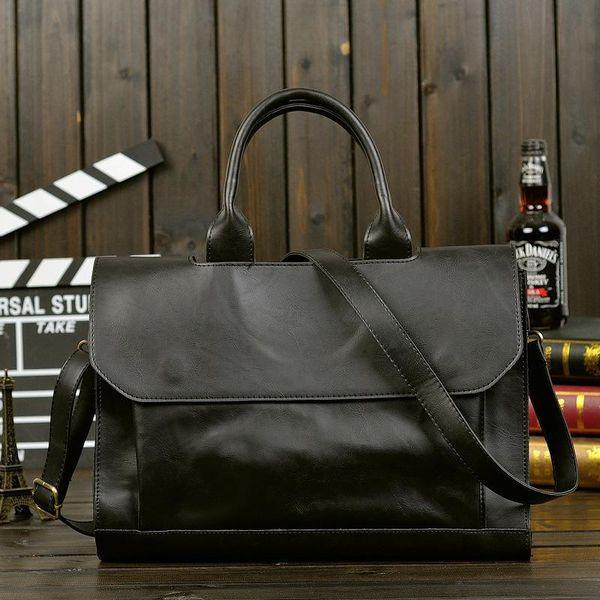 Factory sales Brand bag retro Crazy Horse mens portable satchel retro minimalist premium leather briefcase computer business explosion