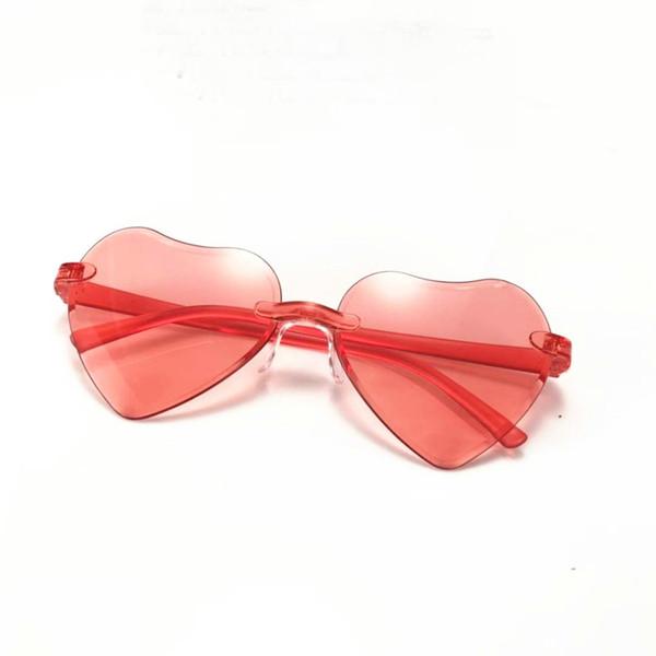 2019 Heart Sunglasses Women Fashion Clear Lens Design Sun Glasses Shades Girls Love Heart Shaped Sunglass Pink Eyewear FML