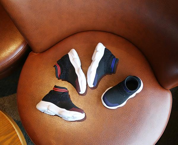 automne et hiver chaussures pour enfants bottines pour garçons et filles chaussures de sport à semelle souple à la mode chaussettes de tricot et molleton confortables chaussures