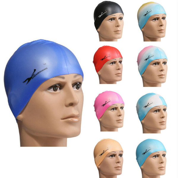 Adult Flexible Durable Silicone Elasticity Swim Cap Swimming Hats For Women M~JP