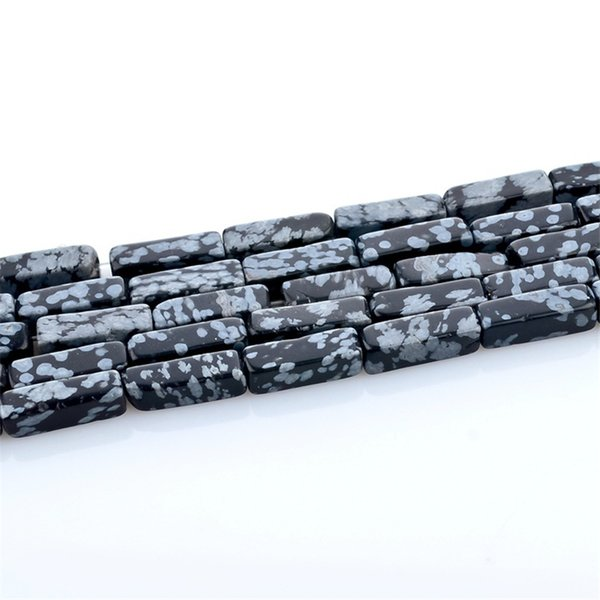 wholesale 4x13mm Rectangular Black Natural Stone Beads Jewelry Bracelet & Necklace DIY Spacer Beads For Jewelry Making