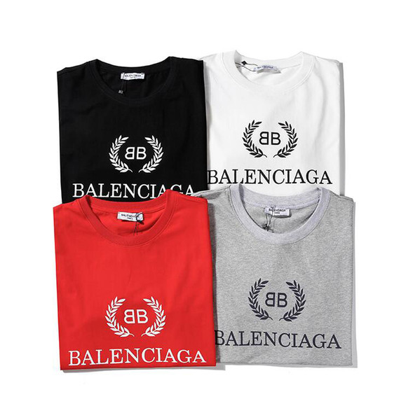 19balenciaga mens designer t shirts venda marca maré de paris bb tshirt street fashion homens mulheres carta impressão camisas de luxo privado personalizado