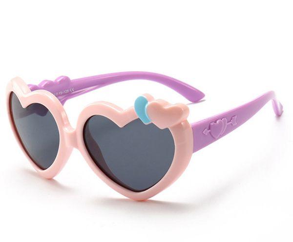 Kids Sunglasses girls love heart sunglasses goggles children UV 400 Protective Eyewear Baby Fashion girls cute cool cycling glasses F6981