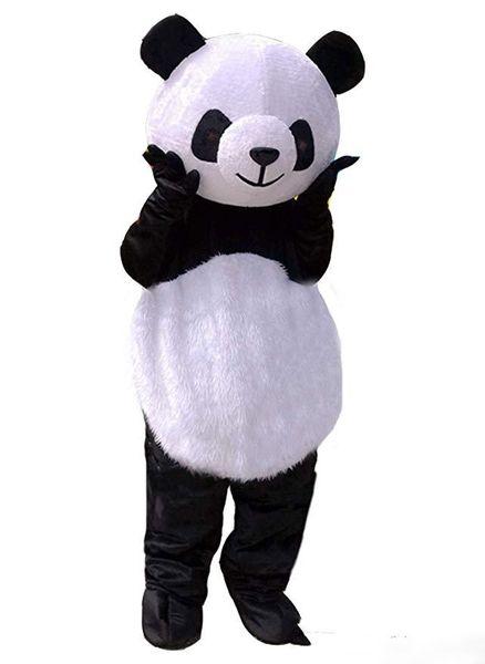 Дешевые Новые свадебные Panda Bear Костюм Талисмана Необычные Платья Взрослый Размер