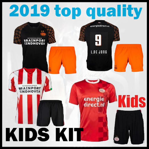 thailand QUALITY kids kit 2019 2020 psv Eindhoven soccer Jersey H. Lozano L.De Jong Hendrix Philips Vereniging 19 20 away football shirt
