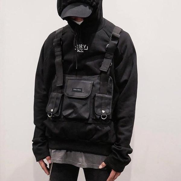 Fashion Chest Rig Bag Hip Hop Streetwear Functional Tactical Chest Bags Cross Shoulder Bag Kanye West Backpack Waist Bag Black C19031801