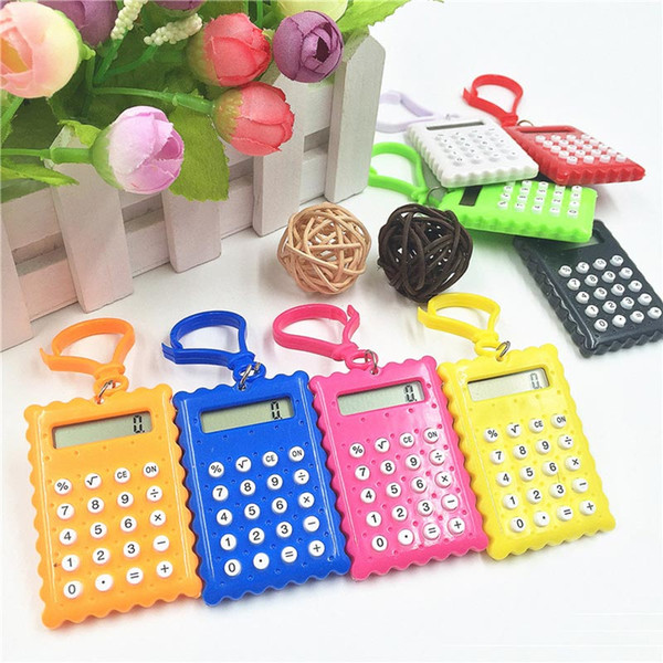 Портативный Милый Электронный Калькулятор Брелок Мини Научный Калькулятор Брелок Студент Карманные Калькуляторы