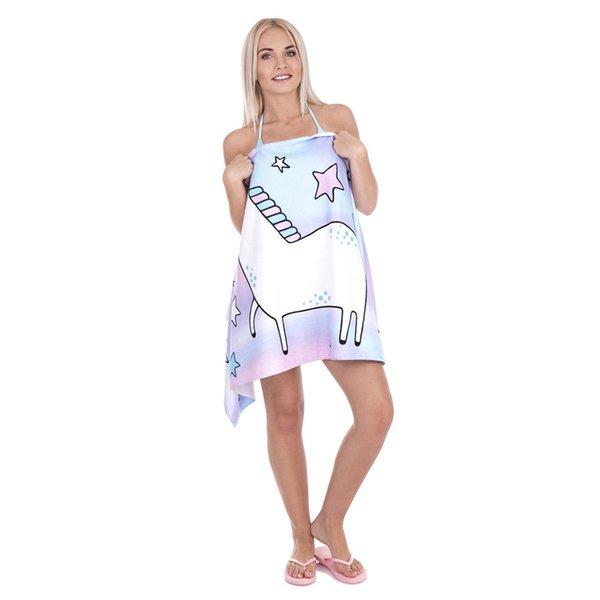 3D Цифровой Единорог Пляжные Полотенца Печати Банные Полотенца Звезда Животных Шаблоны Женская Мода Шаль Зонтик Pad Гобелены 30gl A1