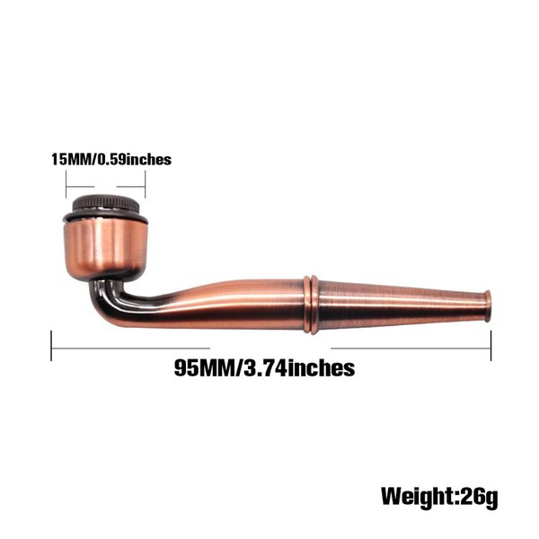 X801 best quality Fashion Zinc alloy Mini cool pipe Length 95MM Cool Zinc Alloy Metal Pipe from wholesale supplier