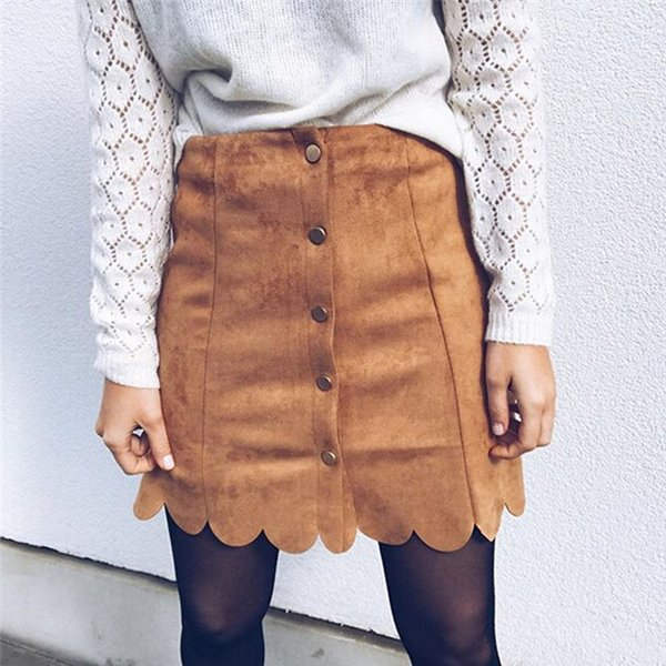 New Fashion Womens PU Leather Skirt High Waist Slim Party Pencil Mini Lace UP Skirt Sexy New Chic Button Skirts