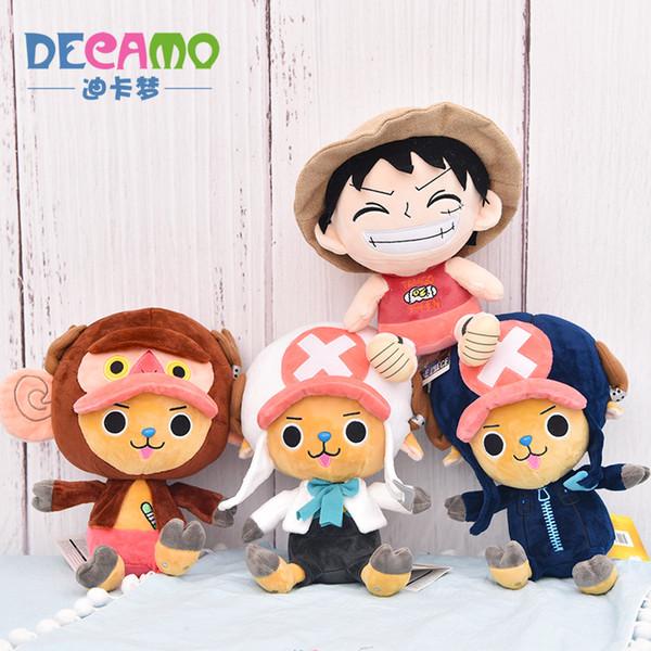 Acheter One Piece Luffy Tony Tony Chopper Animal En Peluche Peluche Jouets Oreiller Décoration De Voiture Mignon Cadeaux Saint Valentin Hot Toys