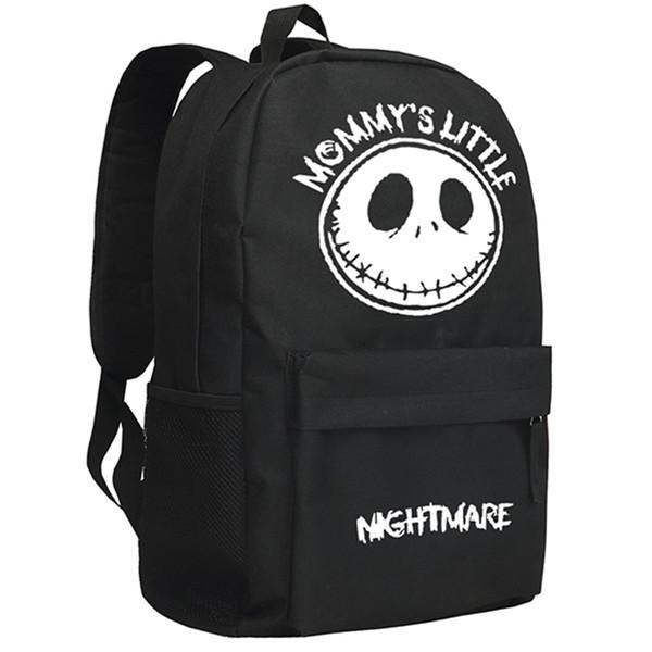 The Nightmare Before Christmas Backpack American Movie Skull Jack Backpack Children School Bag Christmas Gift