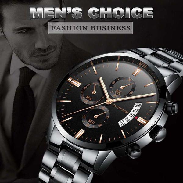luxury brand mens watches clock waterproof stainless steel quartz watch men calendar fire-proof scratch resistant wristwatch