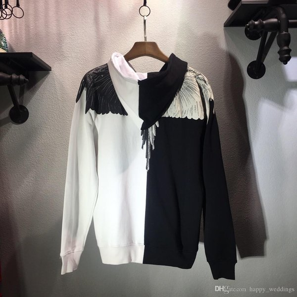 19SS Marcelo burlon hoodies men women patchwork highreal tags MB hoodies streetwear hip hop marcelo burlon pullovers