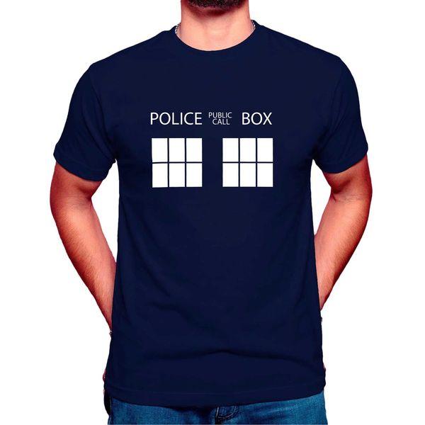Доктор Кто полиция Box Доктор Кто футболка Dr кто унисекс футболки топ футболки вдохновил смешные бесплатная доставка унисекс повседневная топ
