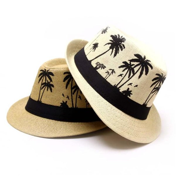 150pcs High-quality pure hand-woven gentleman style elements fashionable outdoor travel adult straw hat