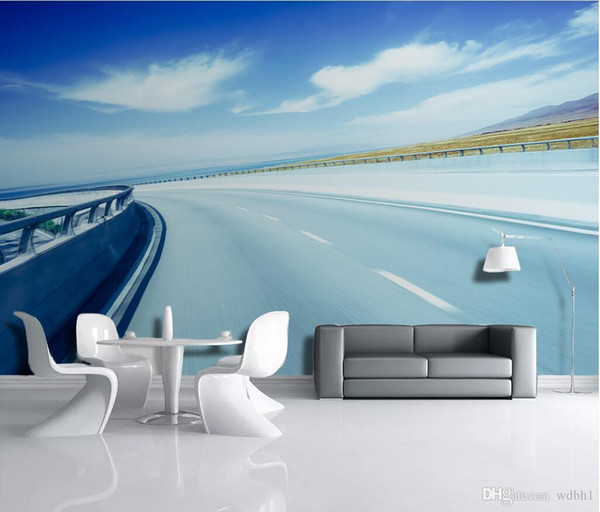 3d room wallpaper custom photo non-woven 3D space expansion highway landscape tooling dining room living room murals wallpaper for walls 3 d
