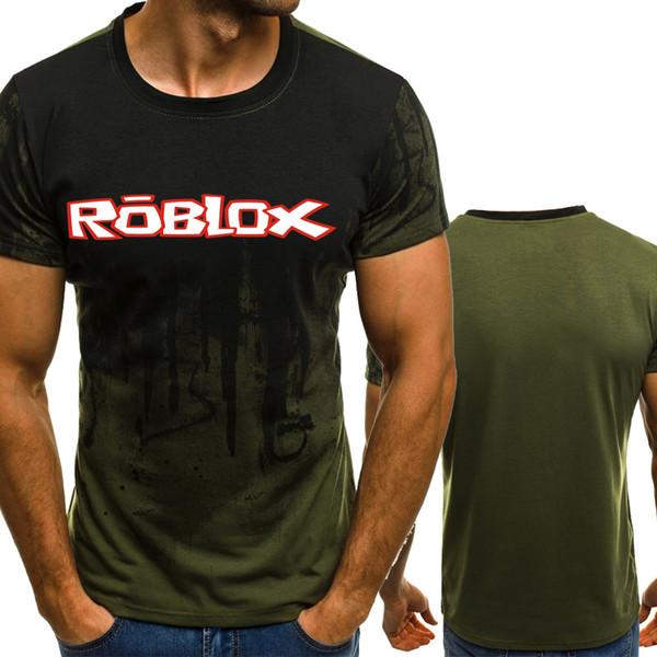 T-shirt nuova moda estate O-collo ROBLOX stampa moda casual da uomo a maniche corte T-shirt maglietta hip-hop T-shirt