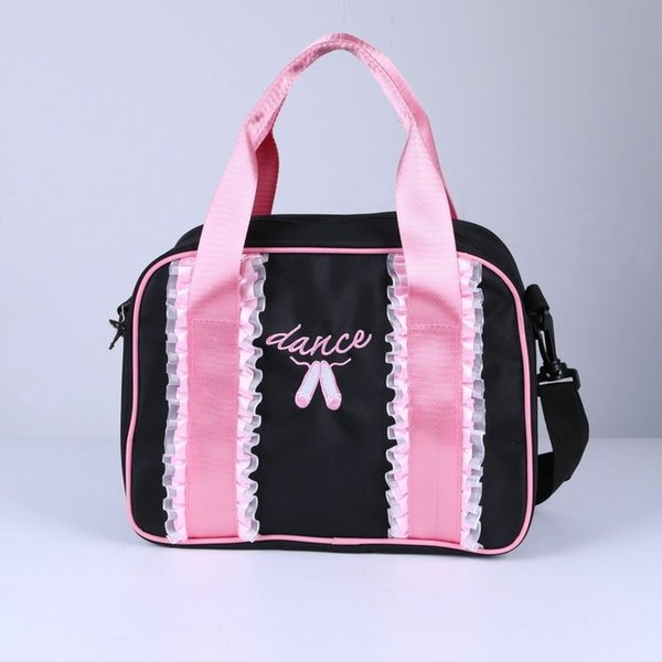 Fashion Kids Girls Ruffles Lace Embroidery Dance Tote Princess Ballet Bag Shoulder Bag Dancing Bag Ballerina Kids Bags