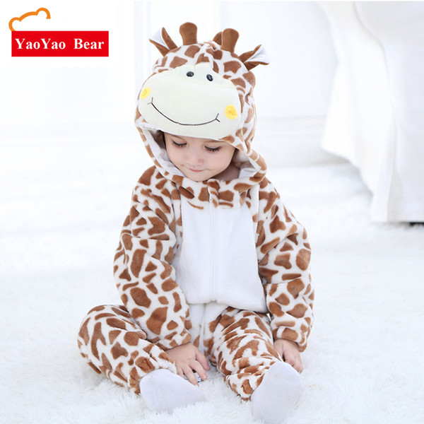 2018 Spring New Pattern Animal Costume Baby Clothes Girl Newborn Romper Boys Cute Pattern Jumpsuit 3-24 Months Children Clothing J190524