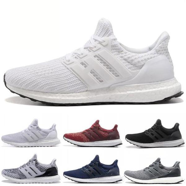 2018 Ultra Running Chaussures 4.0 triple blanc noir gris CNY Hommes Femmes 3.0 Bleu Oreo Vert mode luxe hommes femmes designer sandales chaussures