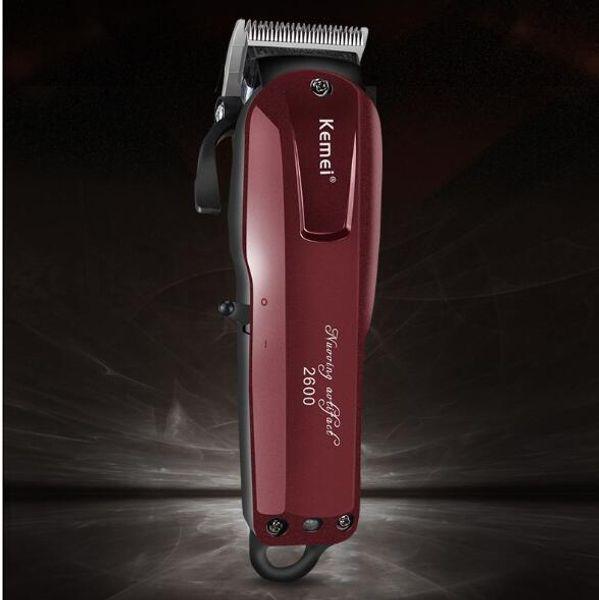Kemei-2600 erkek Saç Düzeltici Profesyonel Makası Berber Kesici Tıraş Makinesi Kesme Saç Kesici Kesim Tıraş AB Şarj Çift amaçlı