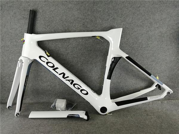 2019 NEW Colnago Road bike Frame White full carbon fiber bicycle frameset carbon bike frame 13 different color