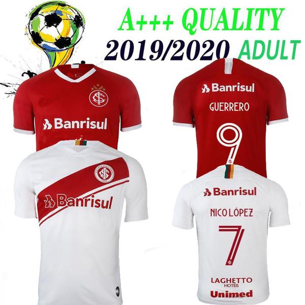 2019 2020 yeni Brezilya Club Internacional ANA uzak kırmızı beyaz futbol forması 19 20 Brezilyalı kulüp tişört Brezilya uluslararası forması