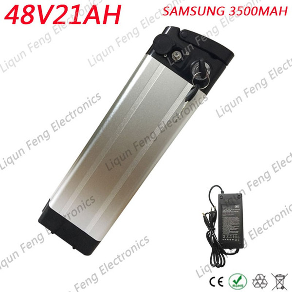 48V 21ah electric bike battery 48V 1000W battery pack 48v silver fish scooter battery use Samsung cell with 30A BMS and charge