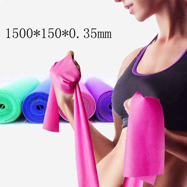 2018 Hot 1.5M Yoga Pilates Stretch Resistance Band GYM Fitness Equipment Training Latex Elastic Exercise Band Rubber Loops